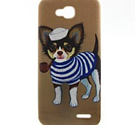 Puppy Pattern TPU Material Soft Phone Case for LG L90 D405