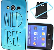 Wild And Free Pattern Plastic/TPU 2 in 1 Design Back Cover Case for Samsung Galaxy Core 2 G355H