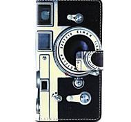 la conception de l'appareil photo en cuir PU de cas complète du corps avec support pour Sony Xperia m2