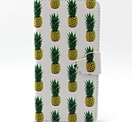 Yellow Little Pineapple Pattern PU Leather Case with Card Slot and Stand for Galaxy A3/A5