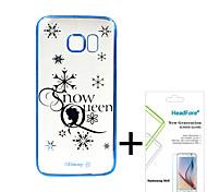 disney princesa congelada caso de la cubierta elsa para Samsung S6E gratis con protector de pantalla para Samsung headfore S6E