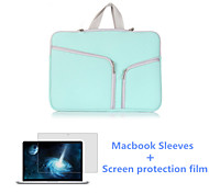 High Quality Zipper Laptop Sleeve Bag and HD Screen Flim for Macbook Air 13.3 inch (Assorted Colors)