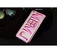 Letter Back Cover Polycarbonate Protective Shell for iPhone 6
