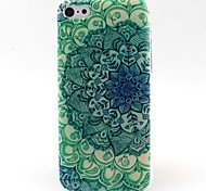 Green Flowers Pattern TPU Material Soft Phone Case for iPhone 5C