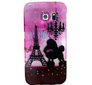 Romantic Tower Pattern Glitter TPU Cell Phone Soft Shell For Galaxy S3 /S4 /S5 /S6/ S6 edge /S3Mini /S4 Mini