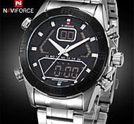 Fashion Men Full Steel Analog Digital Sports Watches Military Style Waterproof Wrist Watch (Assorted Colors)