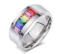Fashion Stainless Steel Rainbow Rings (1 Pc)