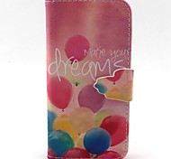 LEXY® Colorful Balloon Pattern PU Full Body Leather Case with Screen Protector and Stylus for iPhone 5C