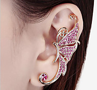 New Arrival Fashional Rhinestone Butterfly Earhook Earring