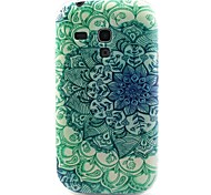 verde di fiori materiale modello TPU soft phone per mini i8190 galassia S3