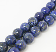 Beadia 39Cm/Str (Approx 39Pcs) Natural Blue Lapis Lazuli Beads 10mm Round Sonte Loose Beads DIY Accessories
