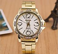 Ladies' Round Dial Case Leather Watch Brand Fashion Quartz Watch Sport Watch