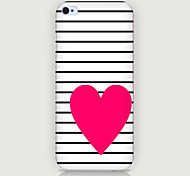 Red Love Pattern Phone Back Case Cover for iPhone5C