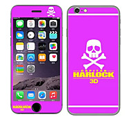 Captain Harlock with Skull Heads Pattern Front and Rear Toughened Cartoon Membrane for iPhone 6S/6(Assorted Colors)