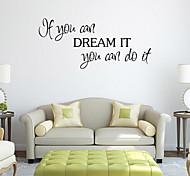 стены стикеры стены наклейки стиль, если вы можете английских слов&цитирует наклейки ПВХ стены