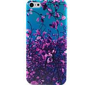 Purple Leaf  Pattern TPU Phone Case for iPhone 5C
