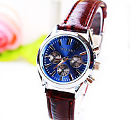 Women's Business Round Dial PC Movement Leather Strap Fashion Life Waterproof Quartz Watch Cool Watches Unique Watches