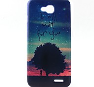 Trees Pattern TPU Material Soft Phone Case for LG L90 D405