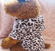 Dog Hoodies - XS / S / M / L - Winter - Brown - Leopard - Mixed Material / Cotton / Terylene