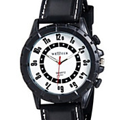 Men'S Watch Sport Round Silicone Watch Chinese Movement Movement Type