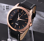мужская мода сорта простой бизнес нейтральный кварца пояса часы