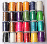 Beadia 160M/Lot  Korean 0.5mm Waxed Cotton Cord  10 Colors U-Pick Beading String