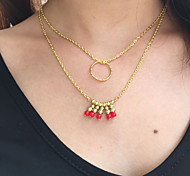 Fashion Multilayer Loops Clavicle Necklace