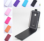 For Nokia Case Flip Case Full Body Case Solid Color Hard PU Leather Nokia Lumia 532