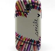 matita modello cuore materiale TPU soft phone per mini i9190 Samsung Galaxy S4