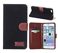 High Quality PU Leather Full Body Cases Phone Protective Shell with Stand for iPhone 6 Plus