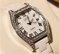 Mulheres Relógio de Moda Quartz Banda Branco / Prata marca-