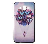 Motif papillon pc cas matériau de téléphone pour Samsung Galaxy J5 J7