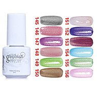 Glitter UV Color Gel Nail Polish No145-156(5ml, Assorted Colors)