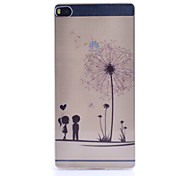 Dandelion Pattern Thin Transparent TPU Material Phone Case for Huawei  G7/P7/P8