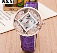 relógio de forma simplicidade de quartzo cristal de rocha areia movediça de pulso analógico das mulheres (cores sortidas)