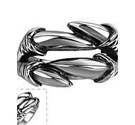 anillo maya individuo generosas simples alicates grandes de acero inoxidable hombre (negro) (1pcs)