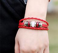 leather Charm BraceletsUnisex Vintage Alloy Leather Handcrafted Bracelet