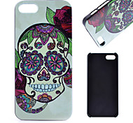 Skull Pattern PC Material Phone Case for iPhone 5C