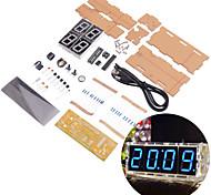 neje gran pantalla azul de 4 dígitos bricolaje llevó kit reloj electrónico