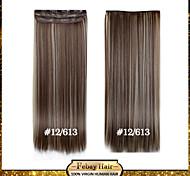 alta temperatura de resistencia de 24 pulgadas 12/613 recta larga peluca de extensión 5 clip de 16 colores disponibles