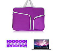 Newest Canvas Double Chain Notebook bag with Keyboard Cover and Screen Flim for MacBook Air 12inch