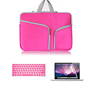 2016 Newest Canvas Double Chain Notebook Bag with Keyboard Cover and Screen flim for MacBook Pro 15.4inch