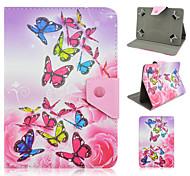 pu leather modello di farfalla di alta qualità con la cassa del basamento per 7 pollici tablet universale