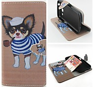 Dog Pattern Pattern Full Body Cover with Card Slot for Samsung Trend 3 G3500/G355H/G357/G360/G386F/G850F/G5308W