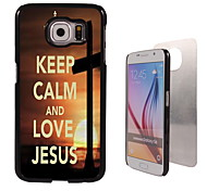 Keep Calm and Love Jesus Design Aluminum High Quality Case for Samsung Galaxy S6 Edge G925F