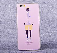 la moda del tpu acrílico patrón anciano cubierta suave para el iphone 6 más
