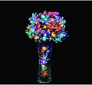 20-LED sakura energía lámparas colgantes impermeable batería 2a solar decoración de vacaciones de Navidad la luz del jardín 4.8m