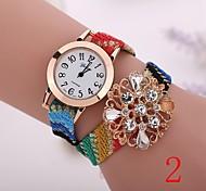 2015  New Fashion  Women Watches Gold Wristwatch Ladies Quartz Watches Geneva   Flower  Bracelet XR1266
