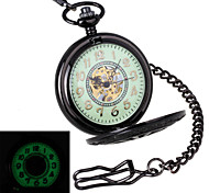 Men's Retro Wheel Carving & Glow-in-the-Dark Design Mechanical Pocket Watch Brand New Mechanical Hand Wind Watches Cool Watch Unique Watch