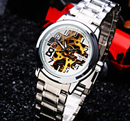 Women's Round Dial Mineral Glass Mirror Stainless Steel Band Fashion Life Waterproof Mechanical Watch Cool Watches Unique Watches